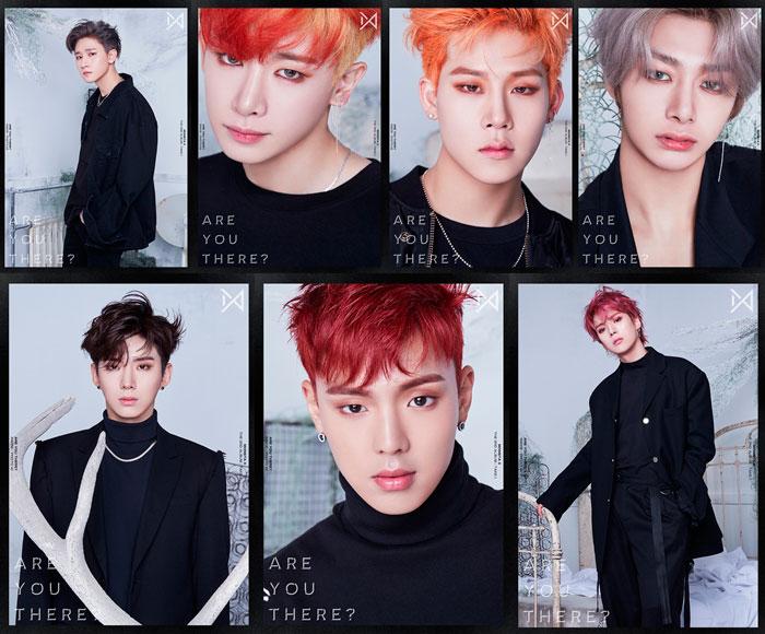 monsta x, monsta x 2018, monsta x album, monsta x are you there, monsta x shoot out, monsta x 2nd album, wonho, minhyuk, kihyun, IM, jooheon, hyungwon, shownu
