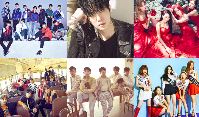wanna one, aoa, jeju hallyu festival 2018, exid, nct dream, red velvet