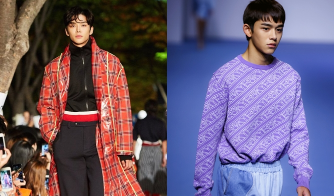 Lucas seoul fashion week, rowoon seoul fashion week, lucas model, rowoon model, rowoon catwalk, lucas catwalk