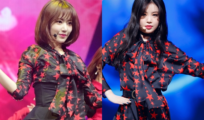 Gidle soojin fashion, izone sakura fashion, sakura fashion, kpop fashion, 2018 idol, idol makeup, soojin 2018, sakura 2018