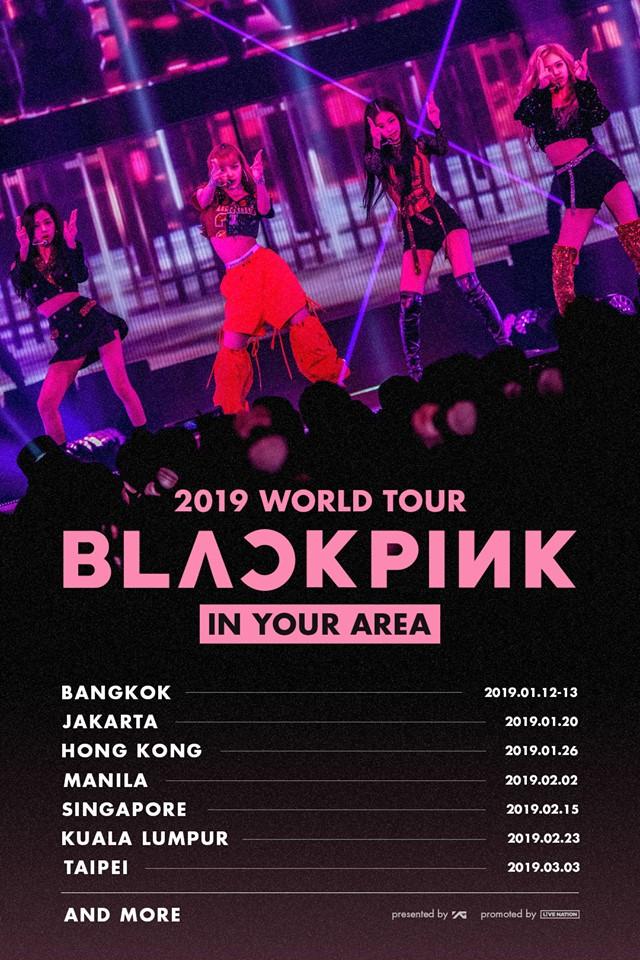 Black Pink Group Shot Poster 24 X 36
