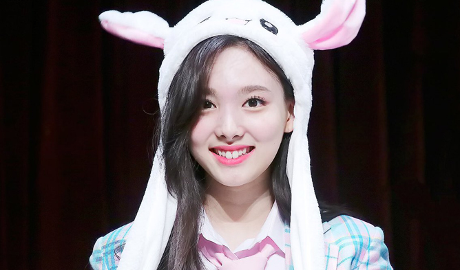 twice, twice profile, twice members, twice facts, twice nayeon, twice tallest, twice leader, nayeon, nayone rabbit hat, nayeon hat