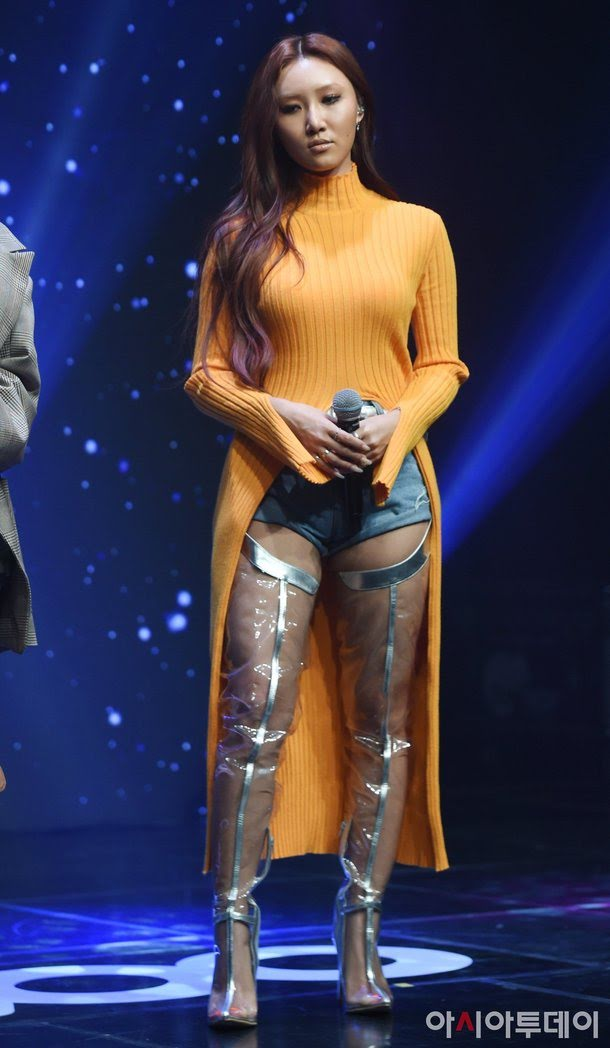What Is Up With Mamamoo's Fashion? Netizens Compare Hwasa's To JYP's Infamous See Through Pants
