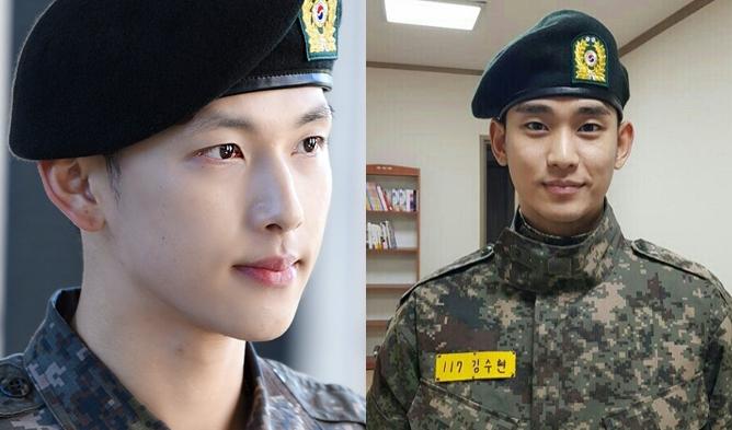 korean actor military, discharge actors, military uniform