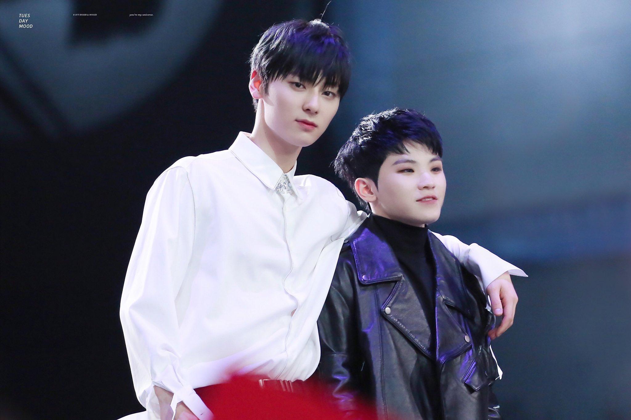 Hwang MinHyun And WooZi Are Cool Pledis Boys At MAMA 2018
