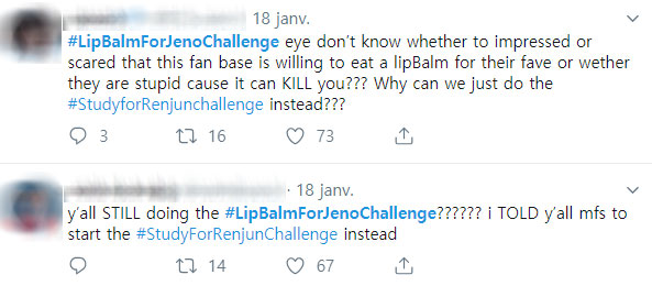 NCTzen Start #StudyForRenjunChallenge To Stop Fans From Eating Their Lip Balm For #LipBalmForJenoChallenge