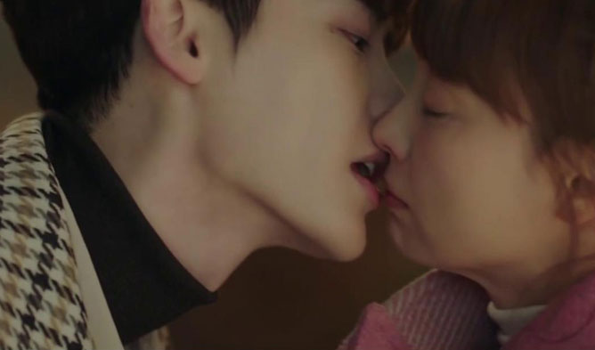 lee jongsuk kiss scene, romance is a bonus book kiss scene