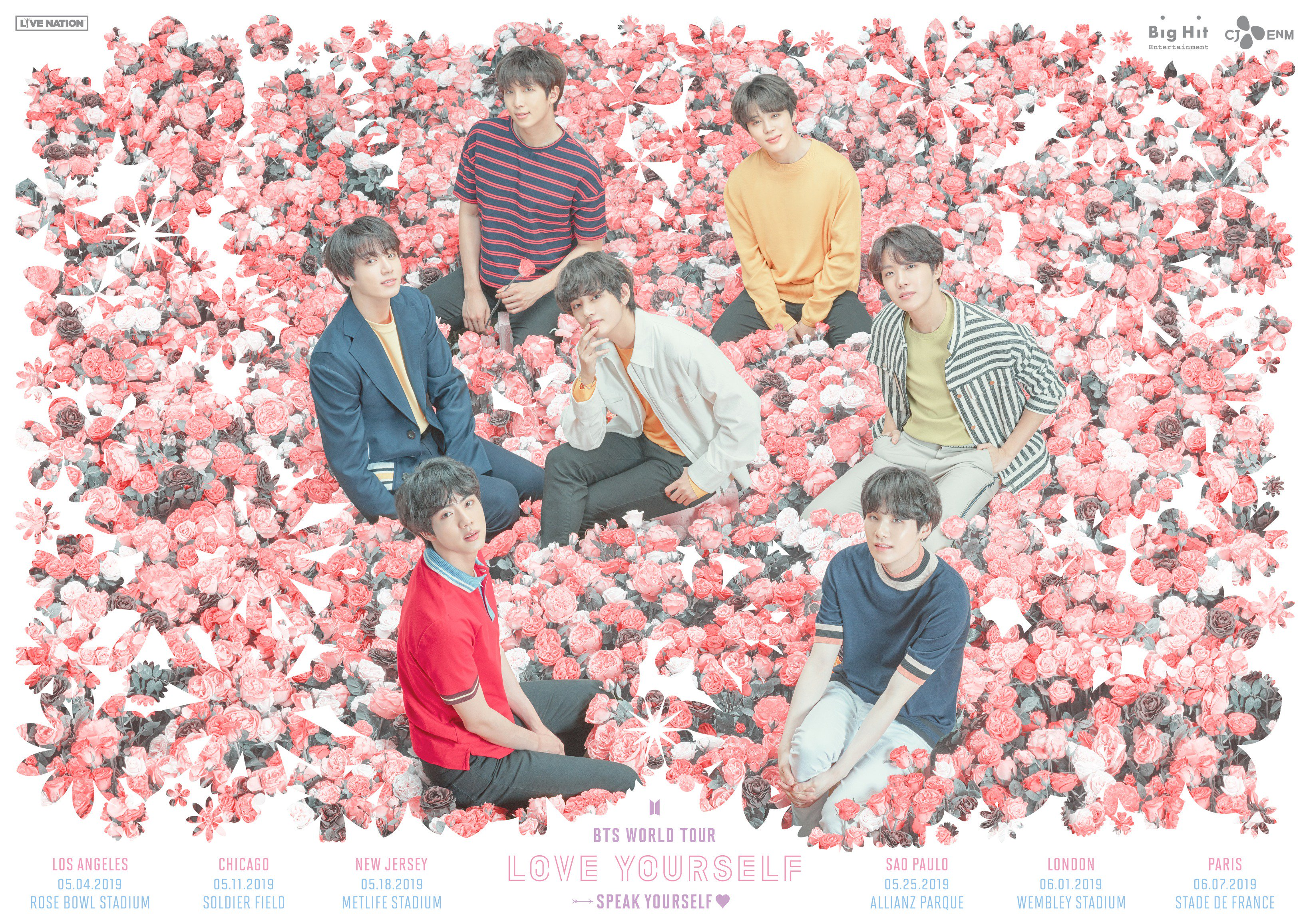 """BTS World Tour """"LOVE YOURSELF: SPEAK YOURSELF"""": Cities And Ticket Details"""