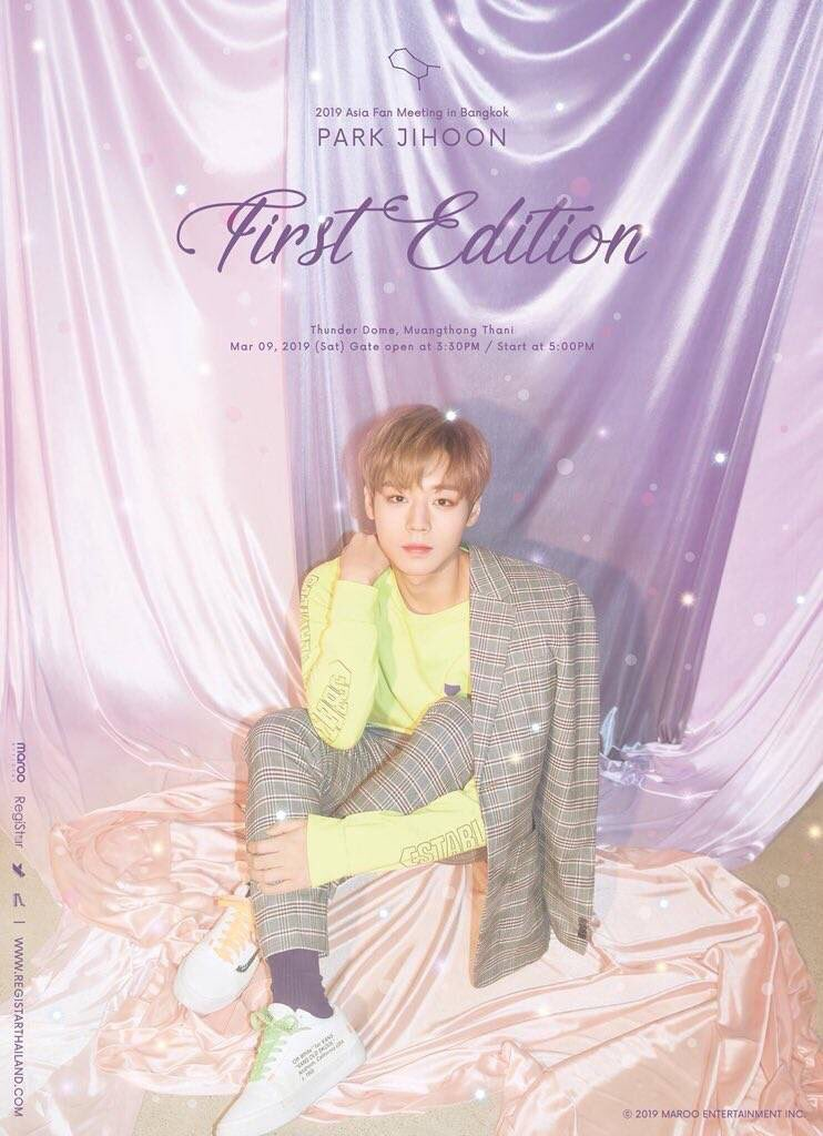 """Park JiHoon 2019 Asia Fan Meeting """"First Edition"""": Cities And Ticket Details"""