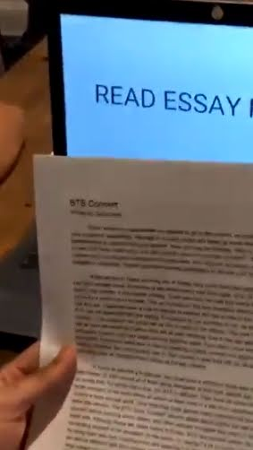 BTS Fan Writes 1300 Word Essay To Convince Her Dad To Let Her Go To Concert