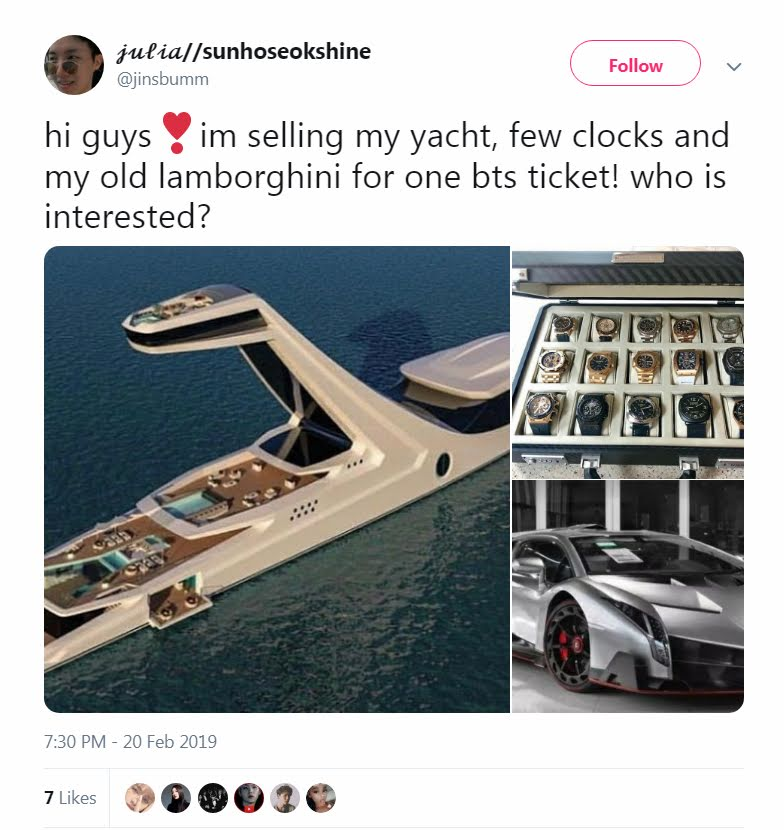 Fan Puts Heart Up For Sale To Buy Ticket To BTS Concert