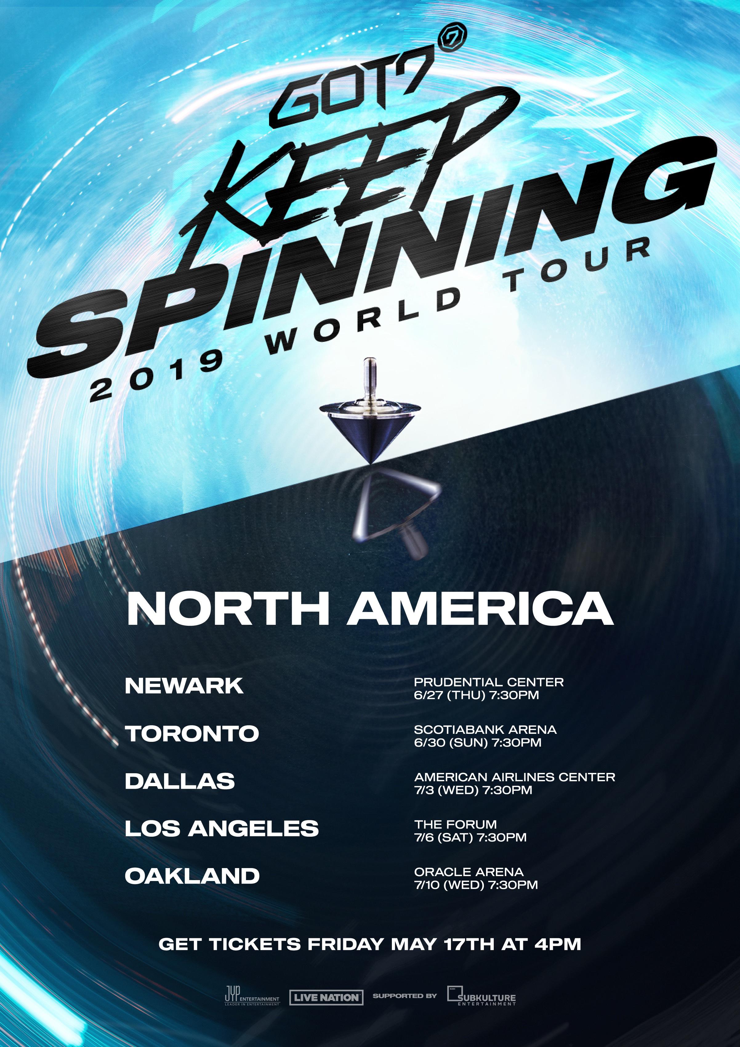 got7, got7 profile, got7 members, got7 facts, got7 age, got7 leader, got7 keep spinning, keep spinning, got7 ticket, got7 world tour, world tour