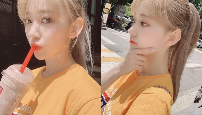 Fans Love How IZ*ONE's Sakura Pulls Her Hair Up In A Pony Tail