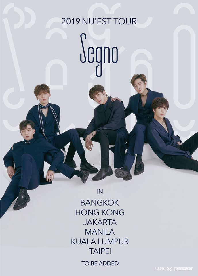 "2019 NU'EST TOUR ""Segno"": Cities And Ticket Details"