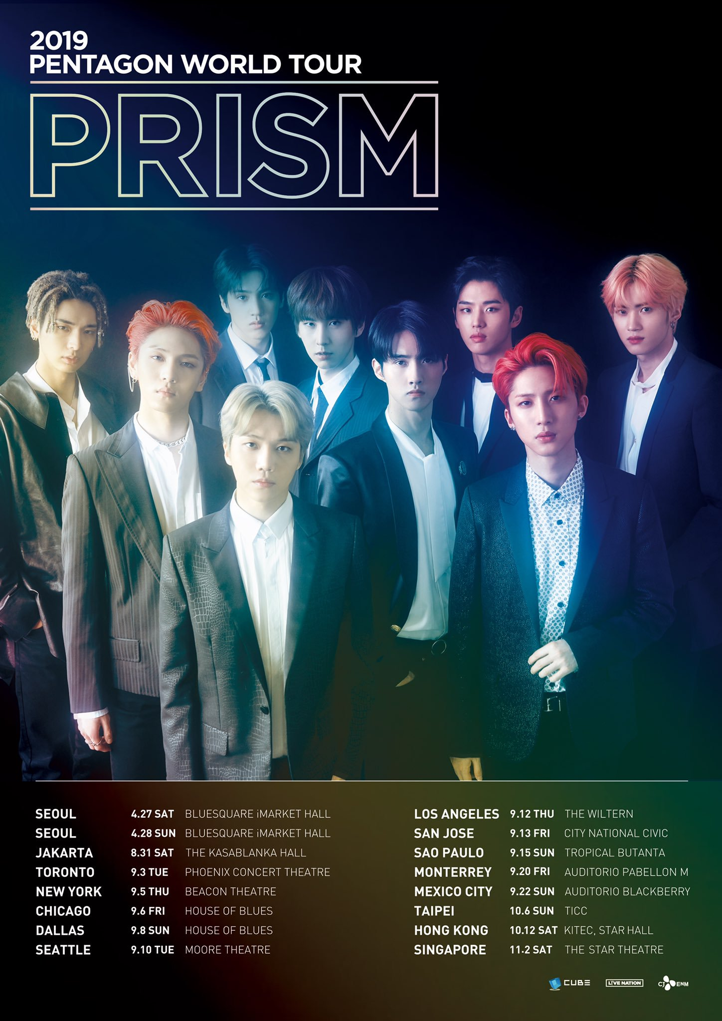 """2019 PENTAGON World Tour """"PRISM"""": Cities And Ticket Details"""