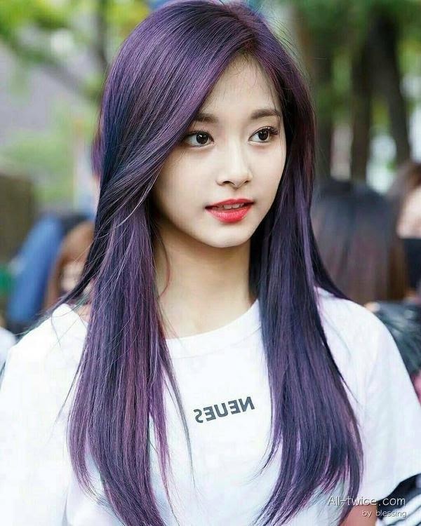 kpop idol purple hair