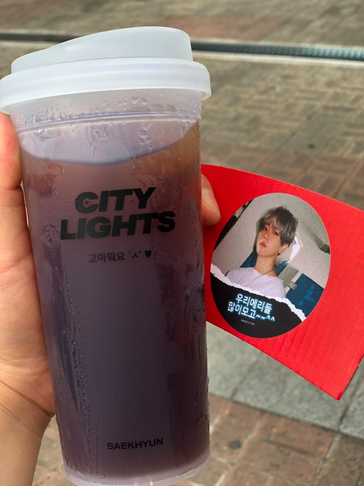 EXO's BaekHyun Treats Fans With Coffee, Strawberry Latte, And Reusable Cup