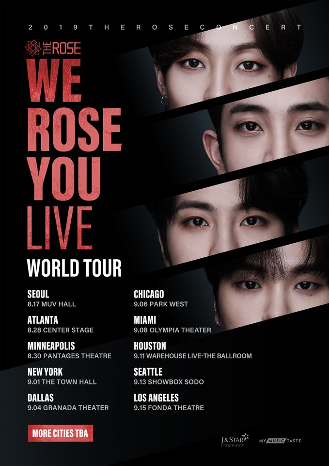 """The Rose """"We Rose You Live"""" World Tour: Cities And Ticket Details"""