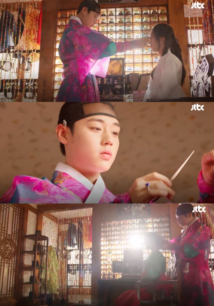 """You Will Want To Get Your Makeup Done By Park JiHoon as Ko YoungSoo In """"Flower Crew: Joseon Marriage Agency"""""""
