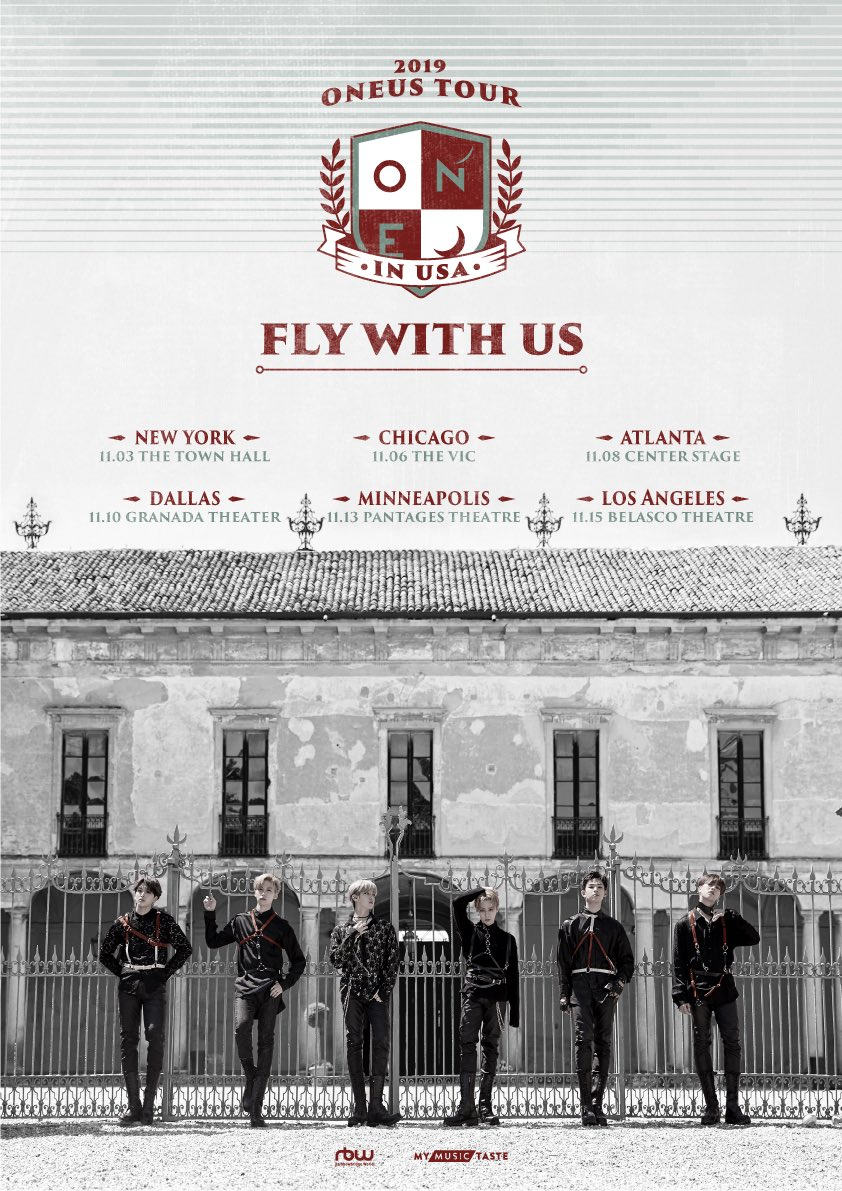 Oneus Fly With Us Tour In Usa 2019 Cities And Ticket