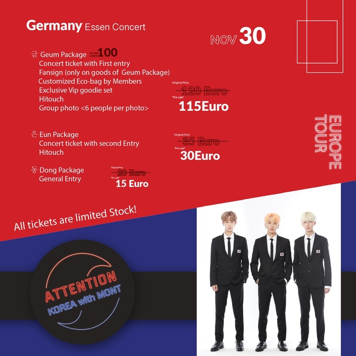 """M.O.N.T Latin America and Europe Tour 2019 """"Attention With Korea"""": Cities and Ticket Details"""