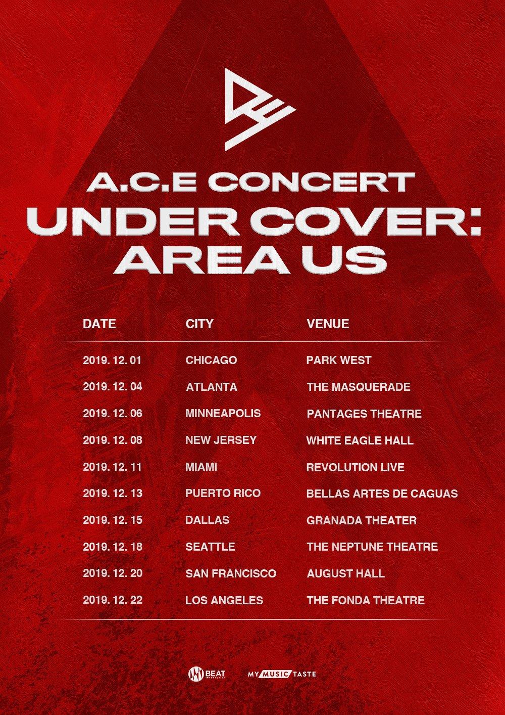 ace, ace poster, ace tour, ace us tour, ace concert, ace under cover area us,