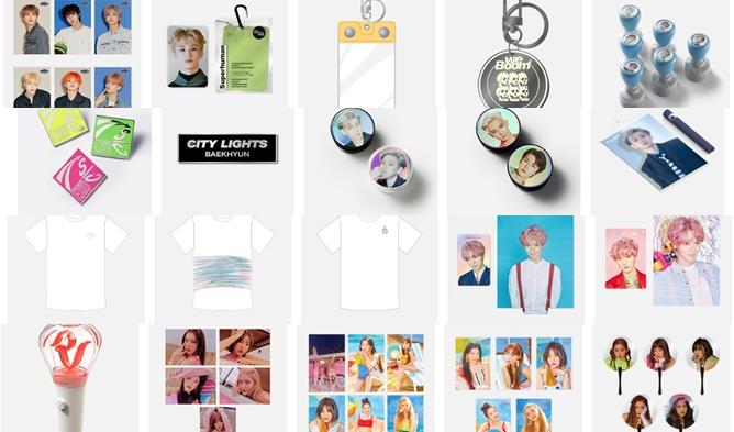 SM town goods, sm store, sm goods, exo goods, nct goods, super junior goods, shinee goods, red velvet goods
