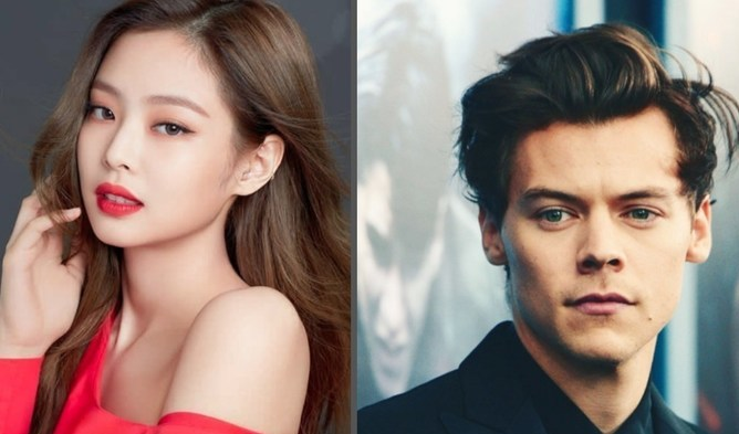 blackpink jennie harry styles