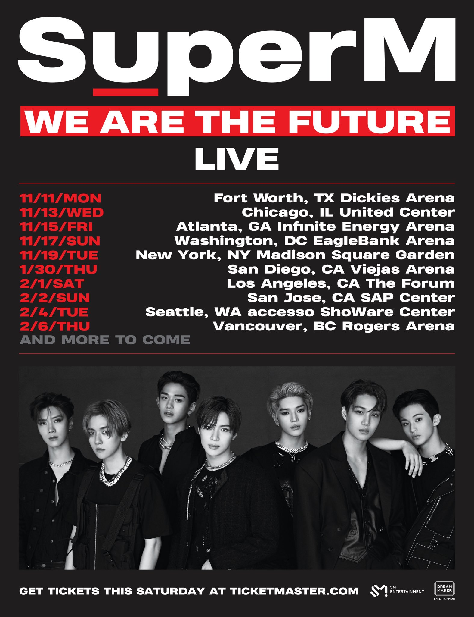 """SuperM """"We Are The Future"""": Cities And Ticket Details"""
