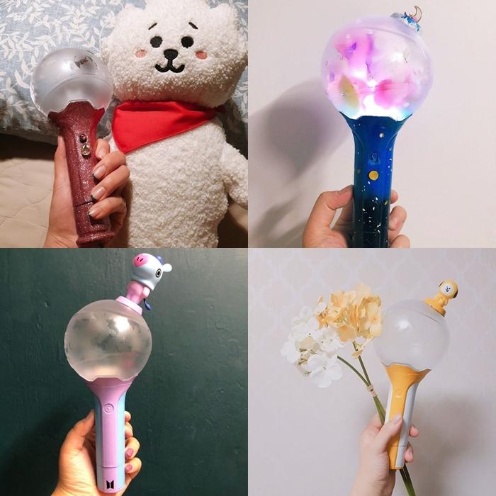 kpop lighstick, customized lightstick, decorate lightstick, bts lightstick, army bomb
