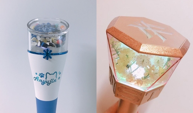 kpop lighstick, customized lightstick, decorate lightstick