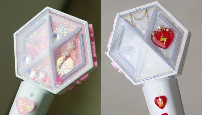 kpop lighstick, customized lightstick, decorate lightstick, eribong, exo lightstick