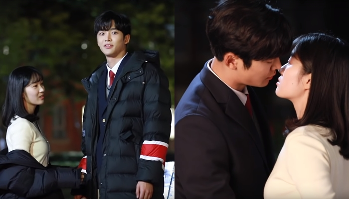 kiss scene rowoon, kiss scene extraordinary you, rowoon kim hyeyoon