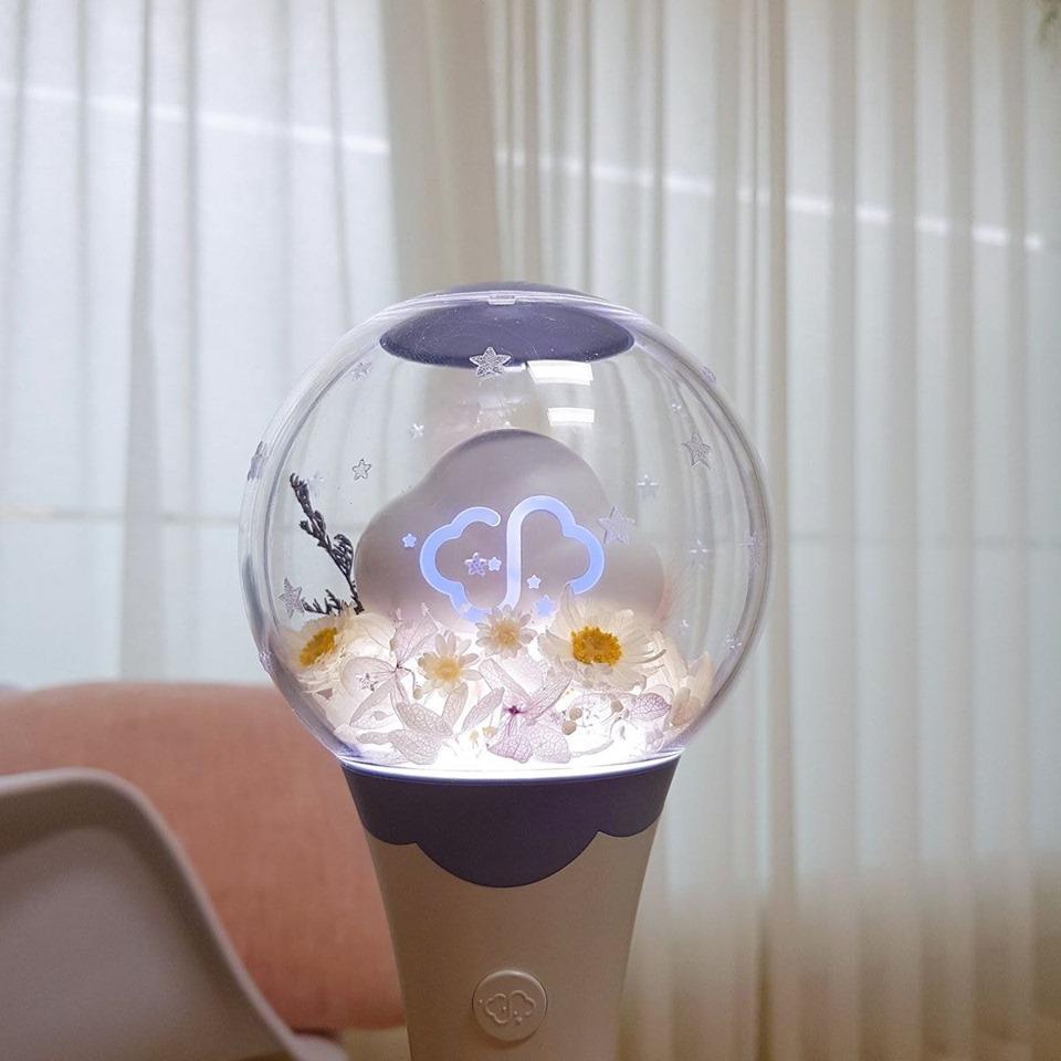 kpop lighstick, customized lightstick, decorate lightstick, ha sungwoon lightstick