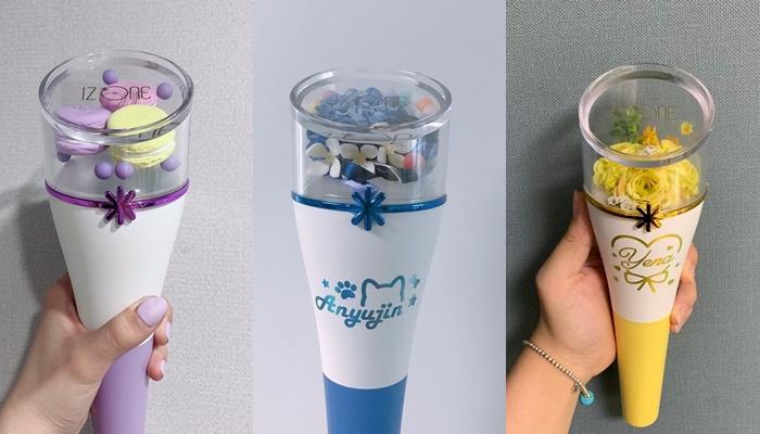 kpop lighstick, customized lightstick, decorate lightstick, izone lightstick