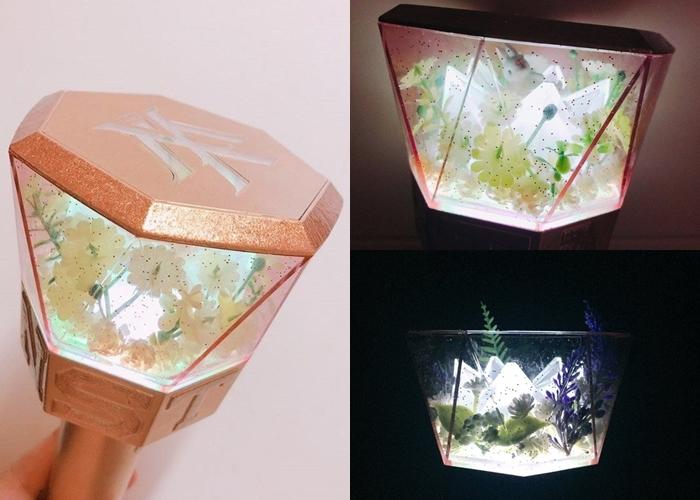 kpop lighstick, customized lightstick, decorate lightstick, mondoongie, monsta x lightstick