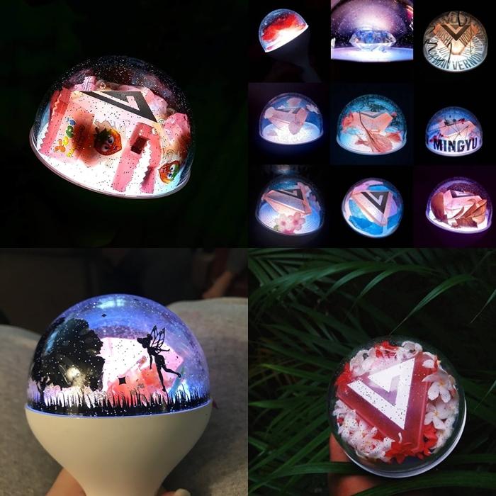 kpop lighstick, customized lightstick, decorate lightstick, carat bong, seventeen lightstick