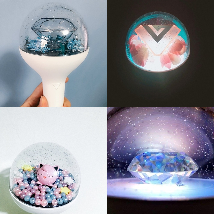 kpop lighstick, customized lightstick, decorate lightstick, seventeen lightstick