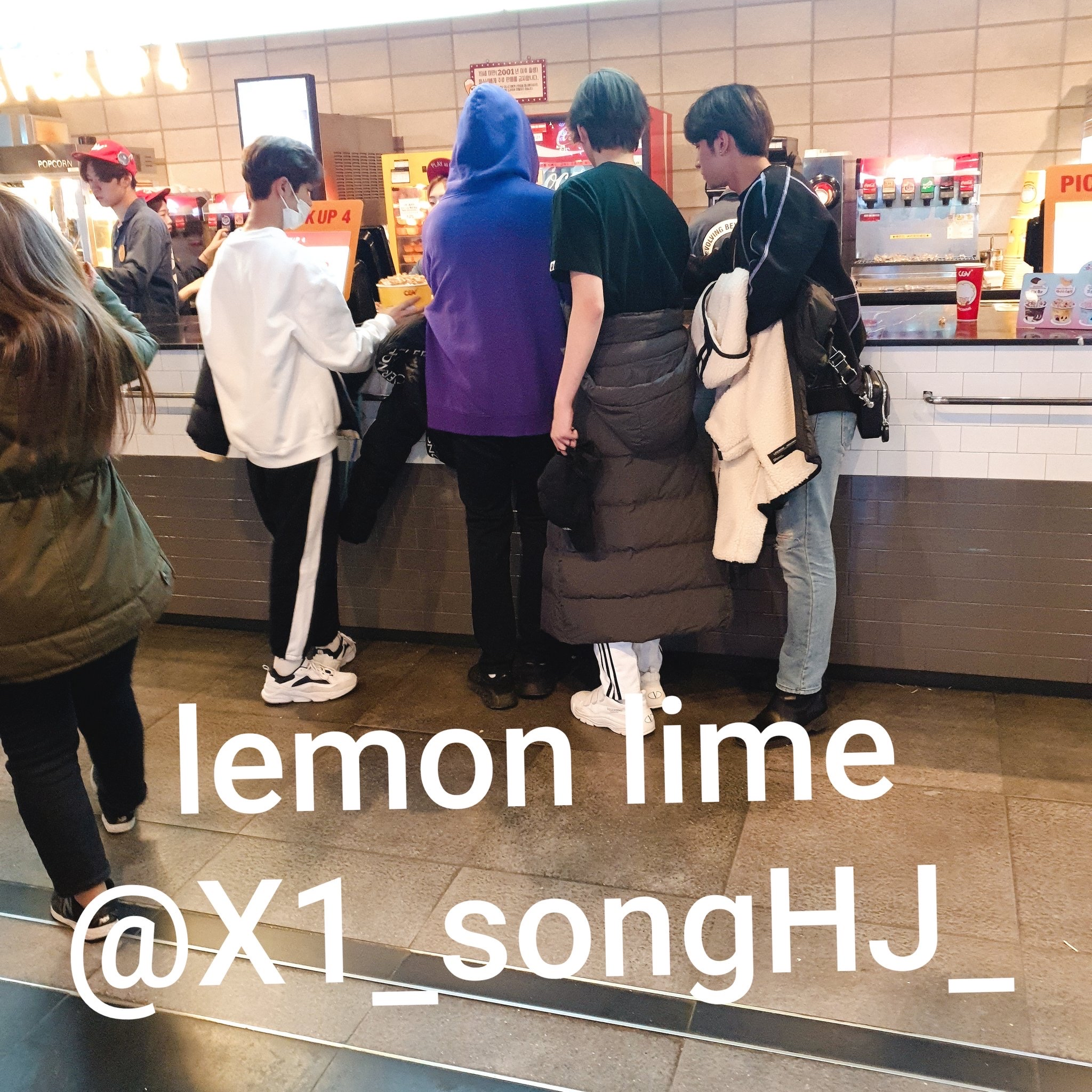 X1's Lee HanGyul, Kang MinHee, Son DongPyo And Nam DoHyon Spotted In A Cinema