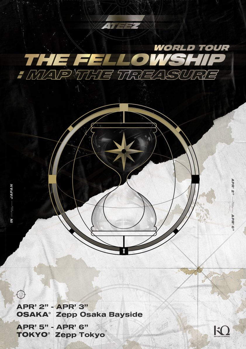 "ATEEZ WORLD TOUR ""The Fellowship""- Map The Treasure 2020: Cities And Ticket Details"