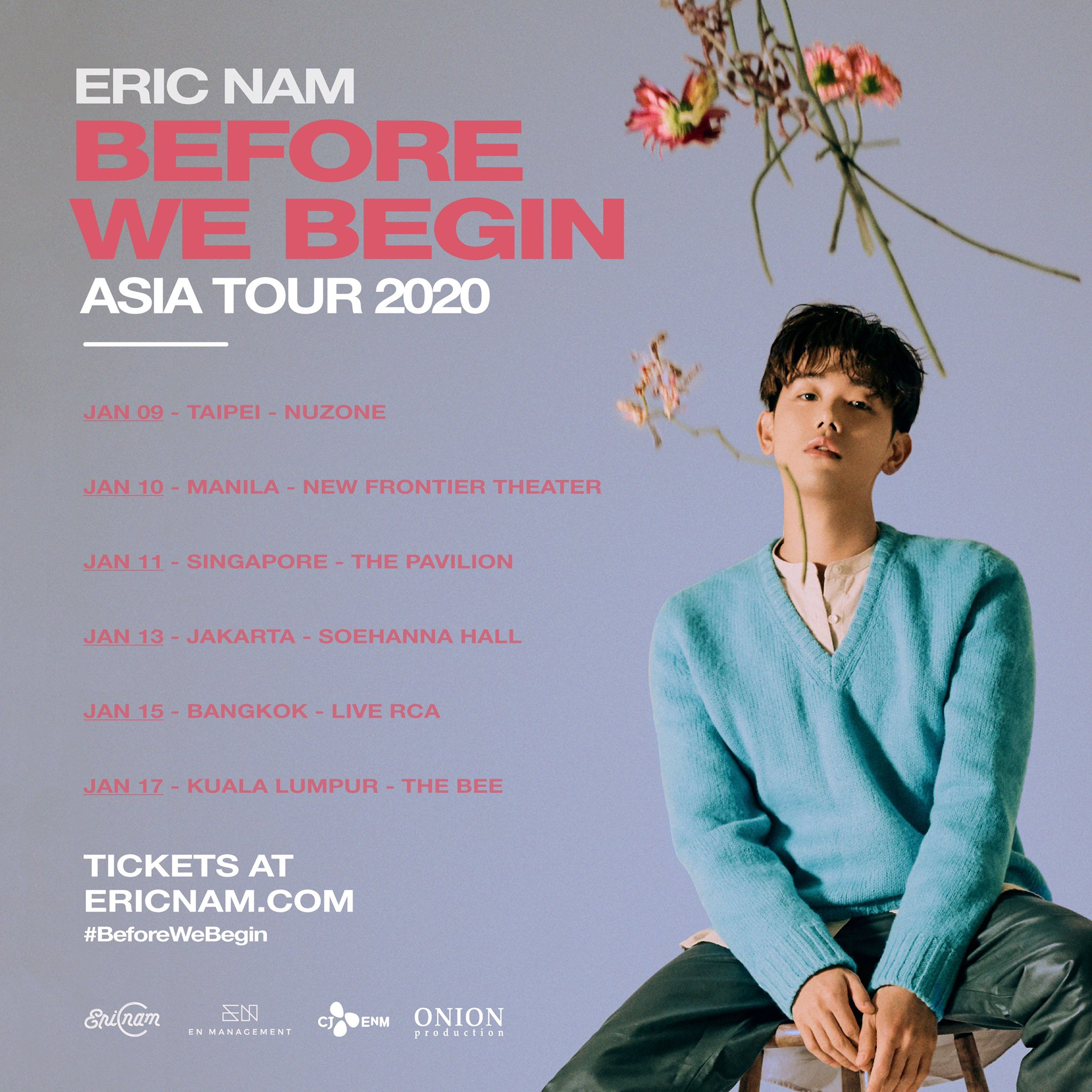 """Eric Nam """"Before We Begin"""" Asia Tour 2020: Cities And Ticket Details"""