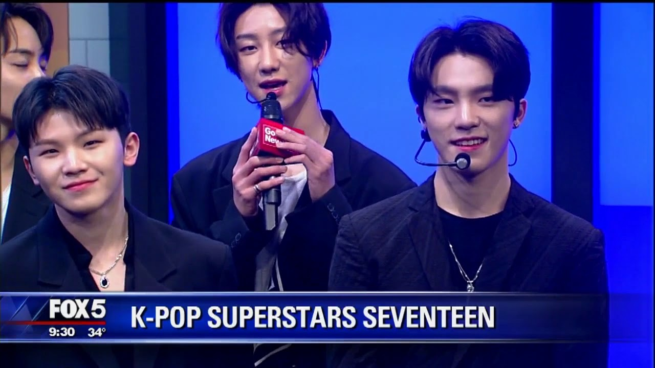 K-Pop Stars SEVENTEEN Appeared On FOX 5 NY's Good Day New York To Talk About Their U.S. tour