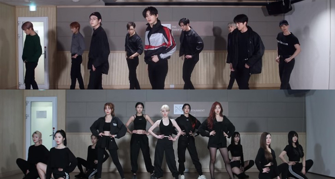 Netizens Go Wow At The Height Of SF9, Compare With AOA When Using FNC Practice Studio