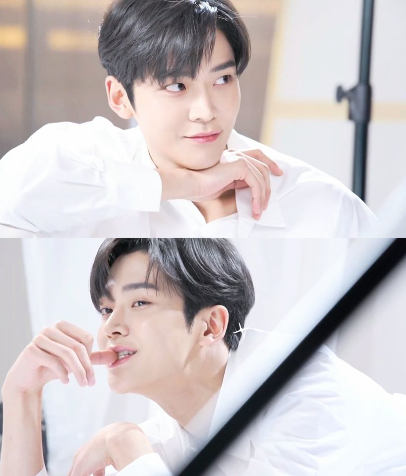 SF9's RoWoon Mesmerizes With Cute And Manly Vibes In Making Of KLAVUU Commercial