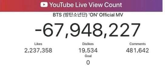 BTS Fandom Furious & Claims YouTube Deleted Views For 'ON'