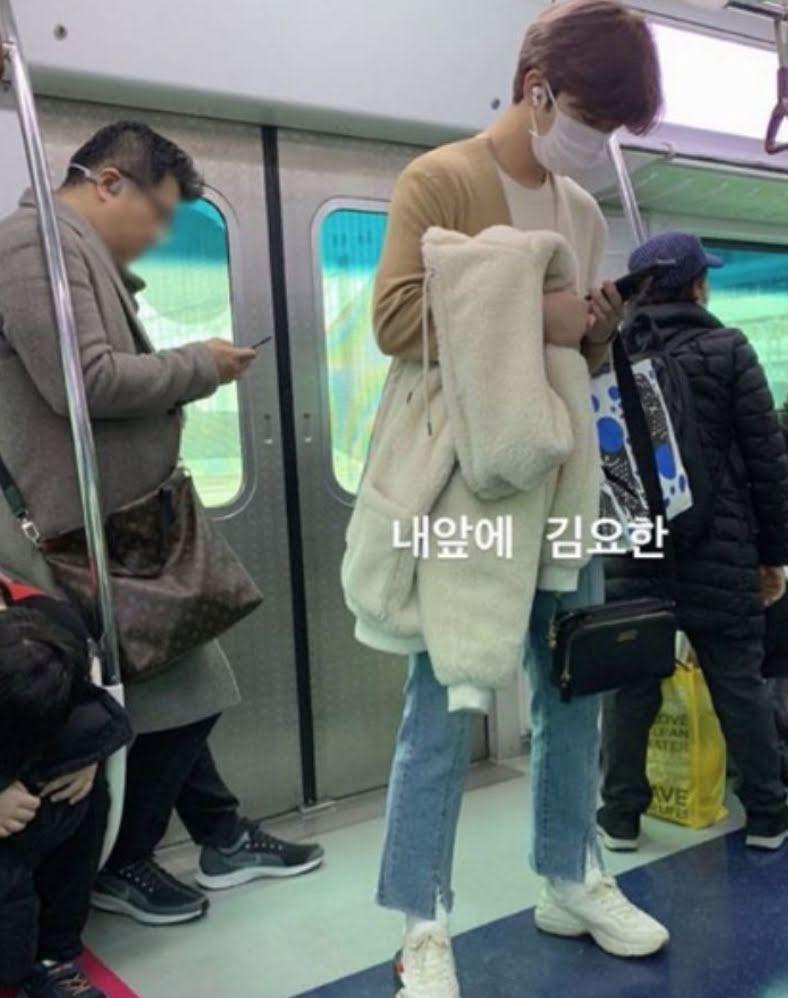 Some Fans Spotted Kim YoHan Taking Public Transportation