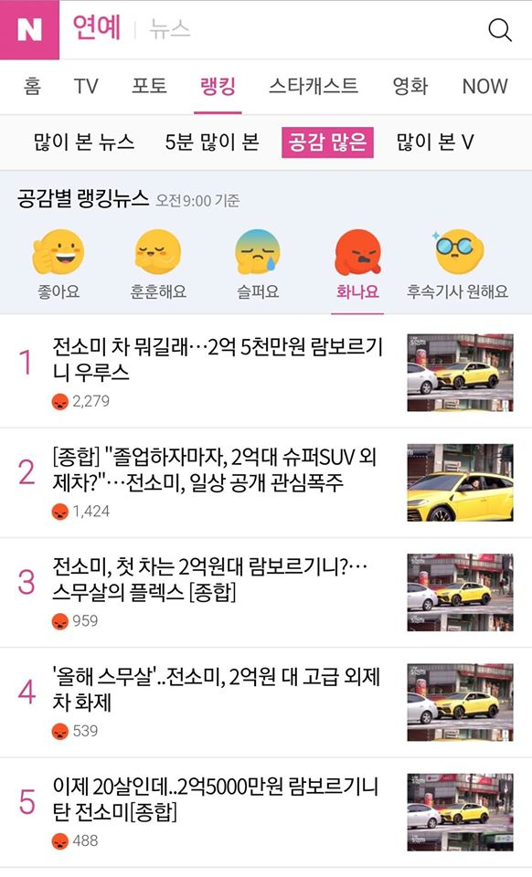Articles On Jeon SoMi Driving Lamborghini Urus Receives Anger, THEBLACKLABEL Steps Up