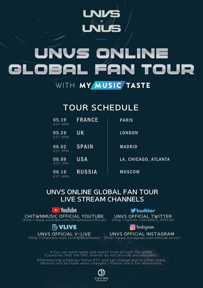 [UPDATE] UNVS Online Global Fan Tour : Participation Details
