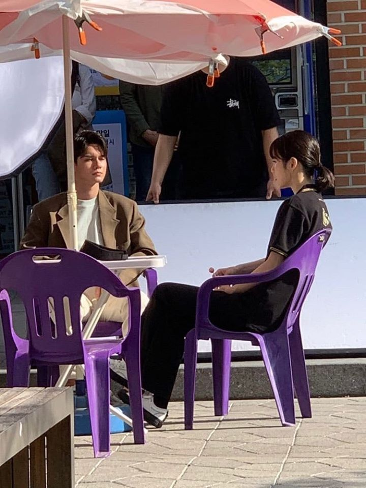 """Ong SeongWu & Shin YeEun Spotted Filming For """"The Number Of Times A Friend Becomes A Lover"""""""