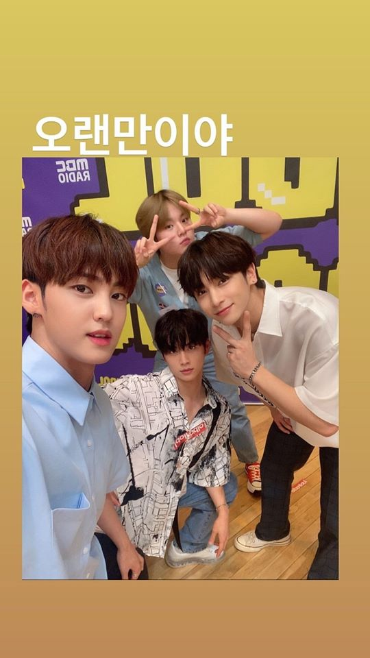 """Fans Reminiscences As B.O.Y Snaps A Photo Together H&D On """"Idol Radio"""""""